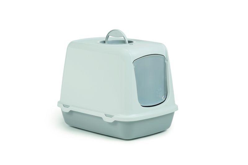 i.p.t.s. Туалет-домик для кошек Oscar серый 50*37*39см 400469