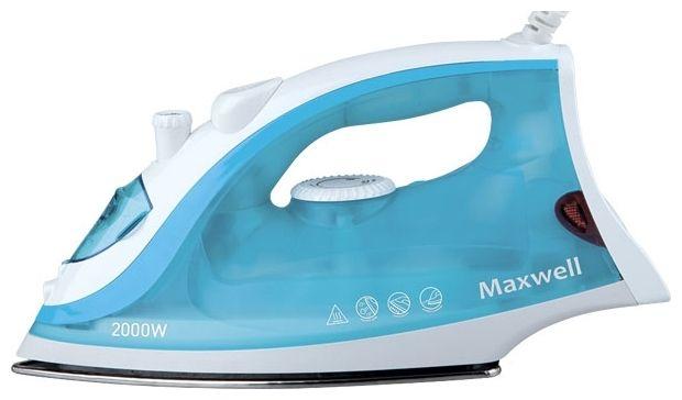 Утюг Maxwell  MW-3046(В)Утюги<br><br><br>Артикул: MW-3046 (голубой)<br>Бренд: Maxwell<br>Гарантия производителя: да