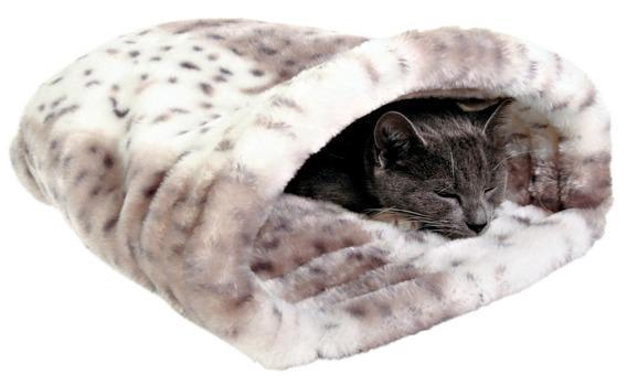 Лежак-тоннель TRIXIE для кошки Leika 46 х 33 х 27 см, . плюш, бежевый/белый.Домики, лежаки, когтеточки<br><br><br>Артикул: 3695<br>Бренд: TRIXIE<br>Вид: Лежаки<br>Страна-изготовитель: Китай