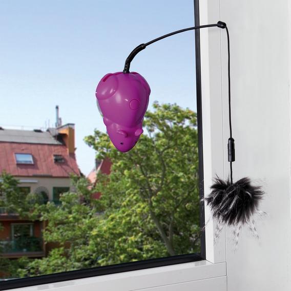 Здесь можно купить Игрушка TRIXIE для кошки Мышь с удочкой, с креплением на вертикальные поверхности, 12 см, пластик  Игрушка TRIXIE для кошки Мышь с удочкой, с креплением на вертикальные поверхности, 12 см, пластик