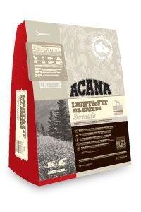 Корм Acana Лайт для собак (Light&amp;Fit), 2,27кгПовседневные корма<br><br><br>Артикул: 45022<br>Бренд: Acana<br>Высота упаковки (мм): 0,22<br>Длина упаковки (мм): 0,33<br>Ширина упаковки (мм): 0,09<br>Вес брутто (кг): 2,27<br>Страна-изготовитель: Канада<br>Вес упаковки (кг): 2,27<br>Размер/порода: Для всех пород<br>Ингредиенты: Кура