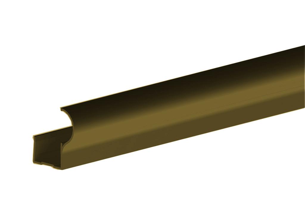 Профиль алюминиевый вертикальный Factor-decor для дверного полотна толщиной 16 мм, длиной 2700 мм, анодированный, цвет шампань от Ravta