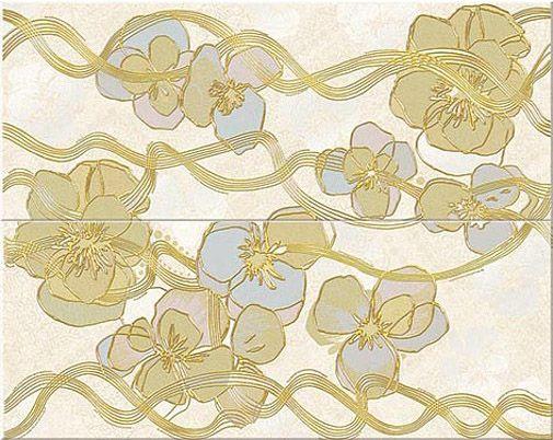 Керамическая плитка панно Azori Arte Nuance бежевый 505*201 (шт.) от Ravta
