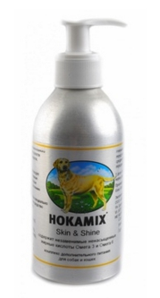 Hokamix Супер-Витамины для кожи и шерсти собак и кошек Скин Шайн: масло (Hokamix30 Skin & Shine) 01170 250гр от Ravta