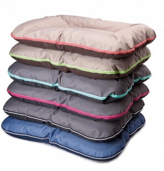 comfy Подушка COMFYARNOLD XXXL коричневая с бежевым и с зеленой молнией(130х110 см) 238493