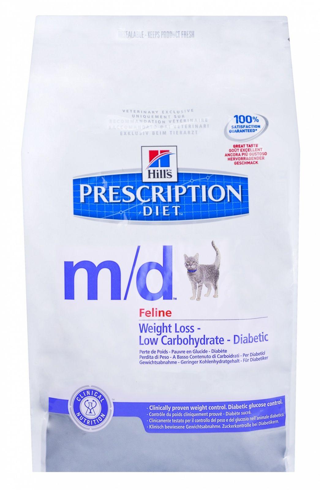 Диетический корм Hill's M/D для кошек лечение сахарного диабета, 1,5кг от Ravta