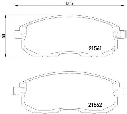 Тормозные колодки Textar передние дисковые комплект Nissan Tiida [2156201] от Ravta