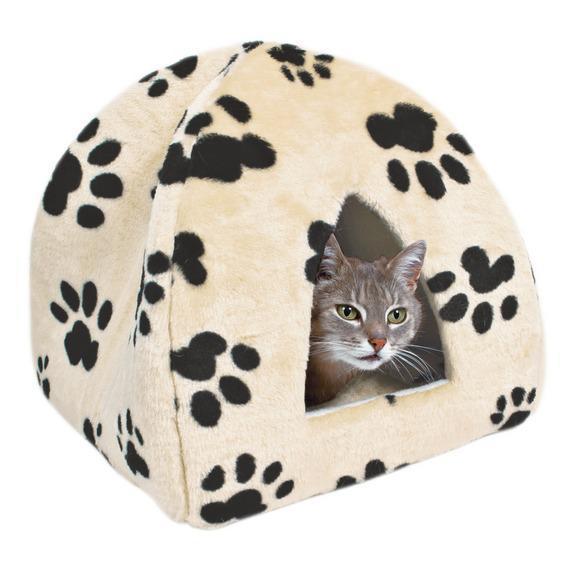 Лежак-пещера TRIXIE для кошки Sheila 40х40х30 см. бежевый с лапкамиДомики, лежаки, когтеточки<br><br><br>Артикул: 3698<br>Бренд: TRIXIE<br>Вид: Лежаки<br>Страна-изготовитель: Китай