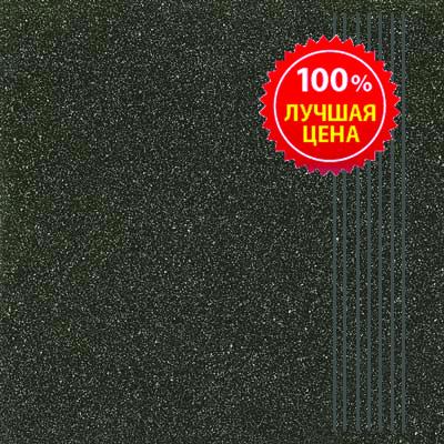 Керамогранит напольный ступени Шахтинская плитка Техногрес черный 300*300 (шт.) от Ravta