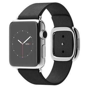 Умные часы Apple Watch 38mm Stainless Steel Case with Black Modern Buckle - M (MJYL2) от Ravta