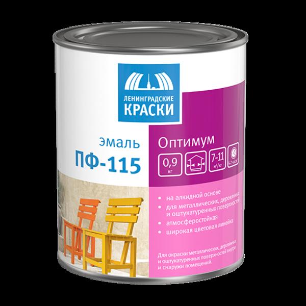 Эмаль ПФ-115 Ленинградские краски Оптимум (ГОСТ) изумрудная (20кг) от Ravta