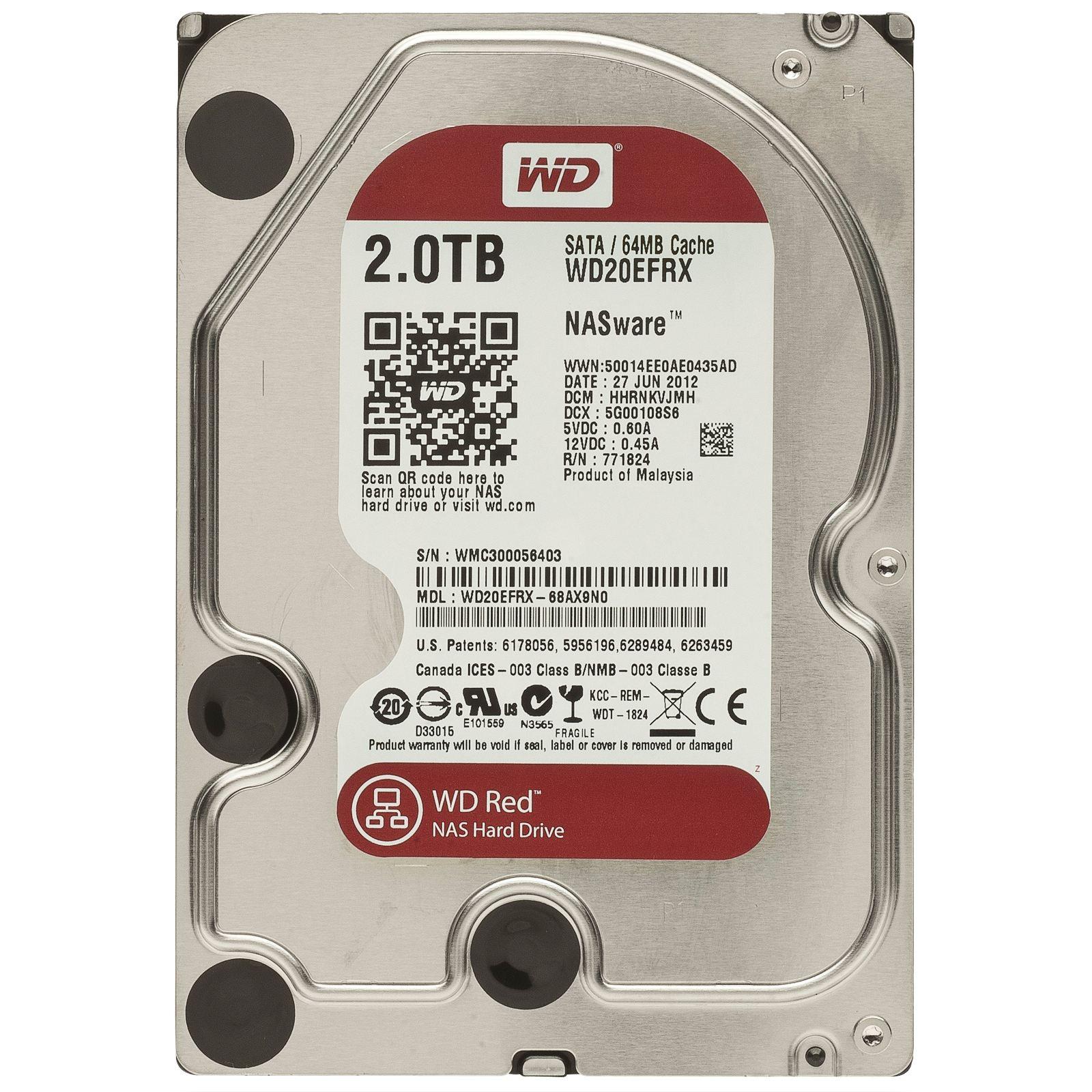 Жесткий диск WESTERN DIGITAL WD20EFRX 2TB SATA 6GB/S 64MB от Ravta