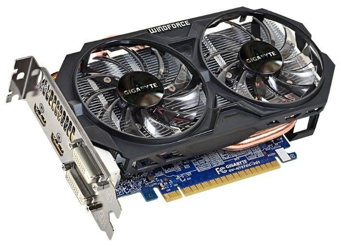 Видеокарта GIGABYTE GeForce GTX750TI GV-N75TOC-2GI 2Гб PCIE16 GDDR5Видеокарты<br><br><br>Артикул: GV-N75TOC-2GI<br>Бренд: Gigabyte<br>Вес упаковки (кг): 0,84