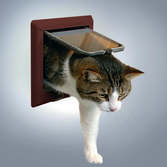 """Дверца TRIXIE для кошки коричневая, """"de Luxe"""" с 4 функциями от Ravta"""