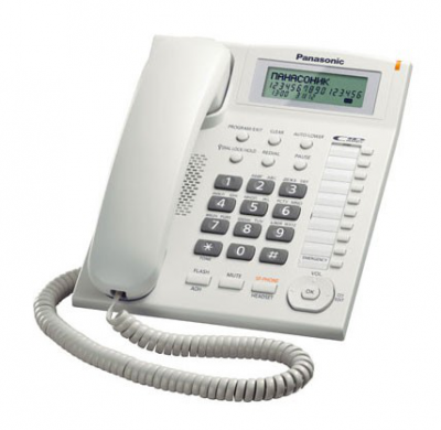 Телефон Panasonic KX-TS2388RUW (белый) от Ravta