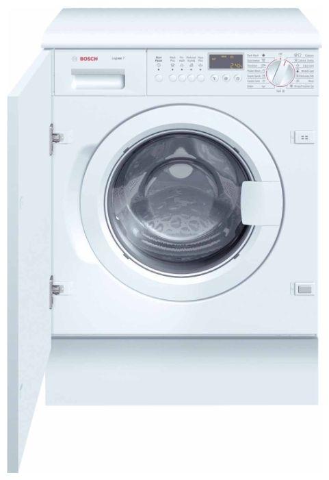 Встраиваемая стиральная машина BOSCH WIS28440OEВстраиваемые стиральные машины<br><br><br>Артикул: WIS28440OE<br>Размеры (ШxГxВ): 600x560x820<br>Бренд: Bosch<br>Высота упаковки (мм): 820<br>Ширина упаковки (мм): 600<br>Вес (кг): 65<br>Гарантия производителя: да<br>Тип загрузки: фронтальная<br>Максимальная загрузка белья(кг): 7<br>Защита от протечек: да<br>Цвет: белый<br>Тип установки: встраиваемая<br>Родина бренда: Германия<br>Тип управления: электронное<br>Наличие дисплея: да<br>Материал бака стиральной машины: пластик<br>Интеллектуальное управление стиркой: да<br>Диаметр загрузочного люка (см): 30<br>Программа стирки деликатных тканей: да<br>Глубина(см): 56<br>Класс отжима: A<br>Уровень шума при стирке (дБ) : 51<br>Количество программ: 15<br>Уровень шума при отжиме (дБ): 70<br>Класс энергопотребления: A+<br>Класс стирки: А