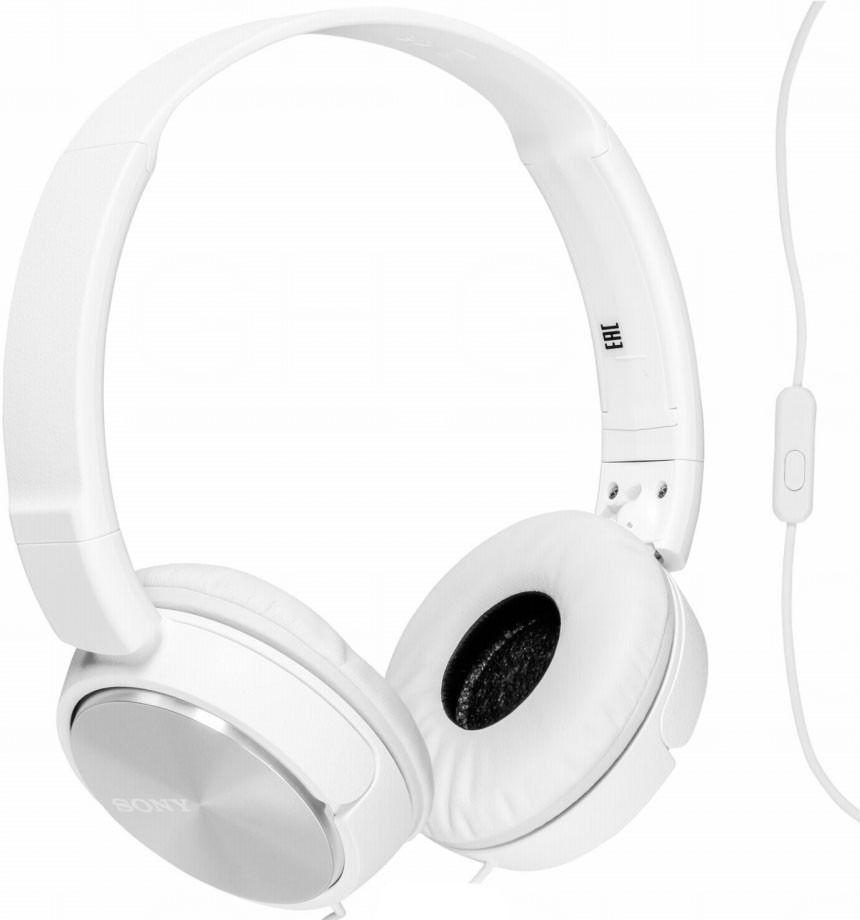 Наушники SONY MDR-ZX310 (белый/с микрофоном)Наушники<br><br><br>Бренд: Sony