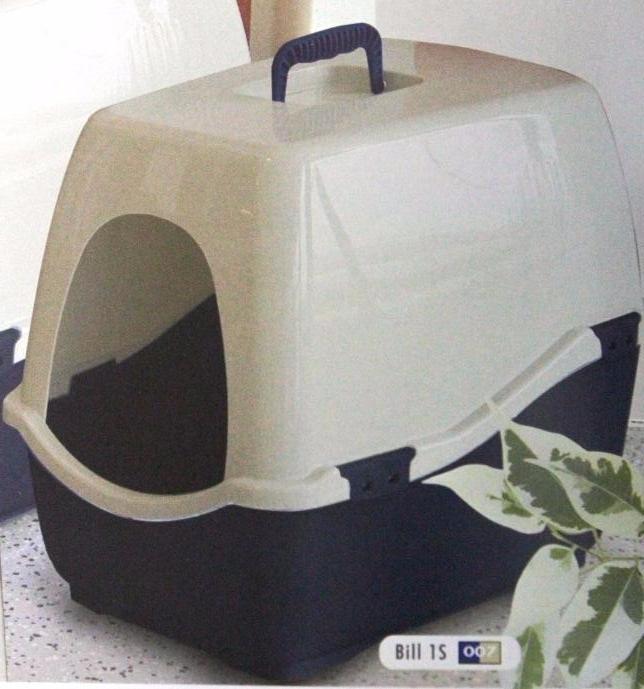 marchioro Домик-туалет для кошки BILL 1S, 50х40х42см, синий/беж. 1065102000007