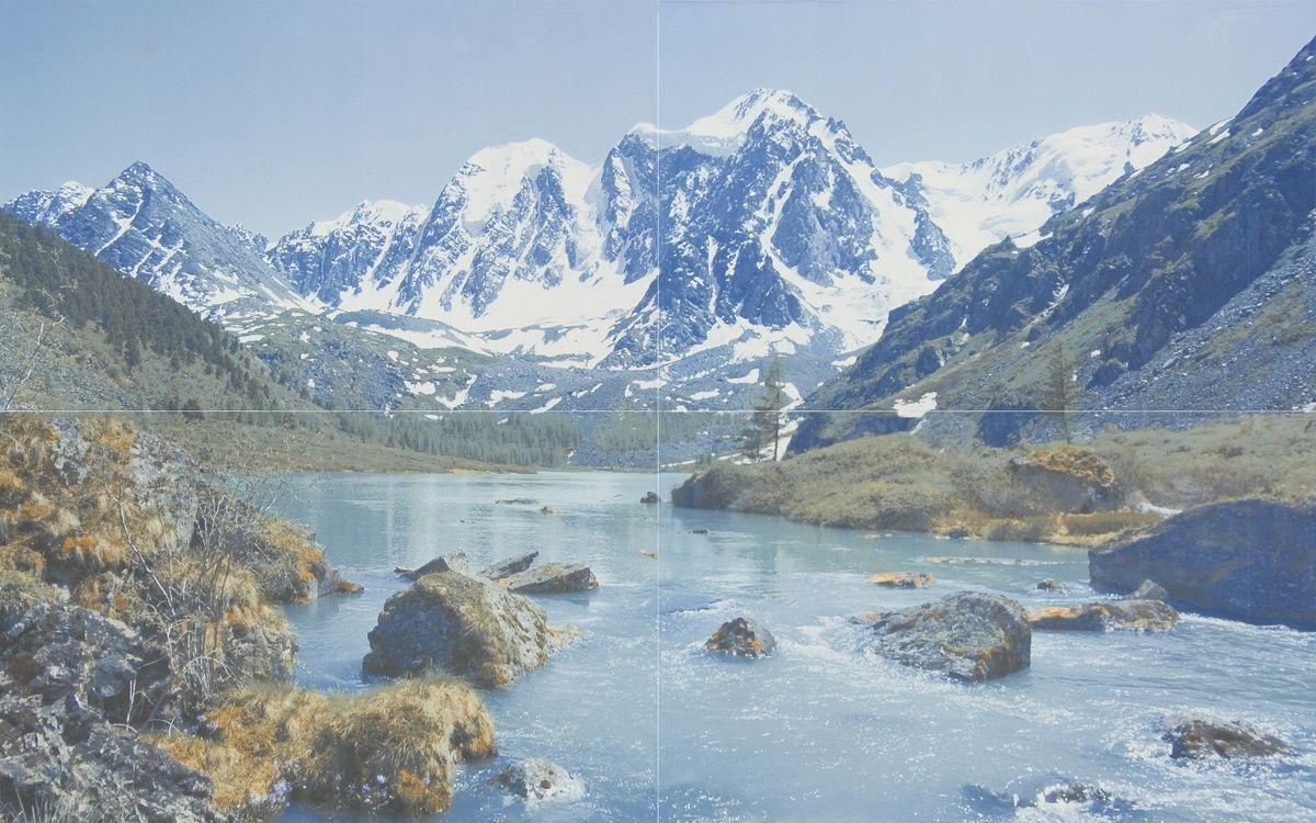Керамическая плитка панно Шахтинская Davos 01 голубой 500*800 (4шт.) от Ravta