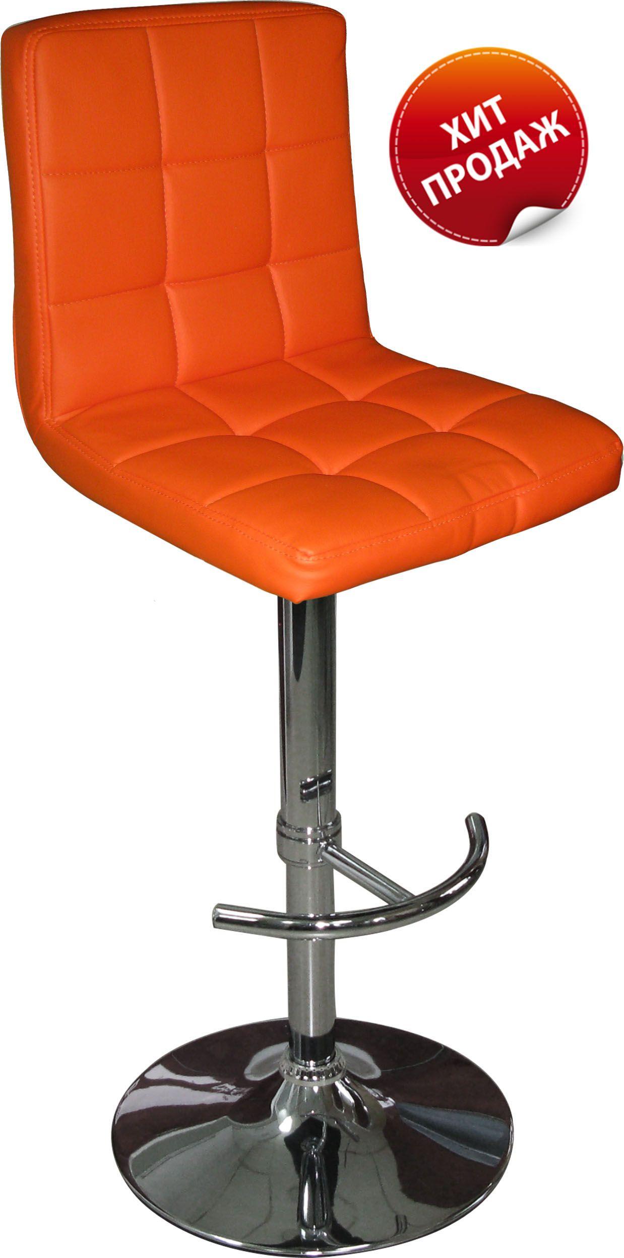 Барный стул (арт.HC-103F) оранжевыйМебель для дома<br><br><br>Артикул: HC-103F<br>Бренд: Ravta<br>Цвет: оранжевый<br>Вид мебели: Барный стул<br>Каркас мебели: гальваника<br>Тип материала мебели: кожзам