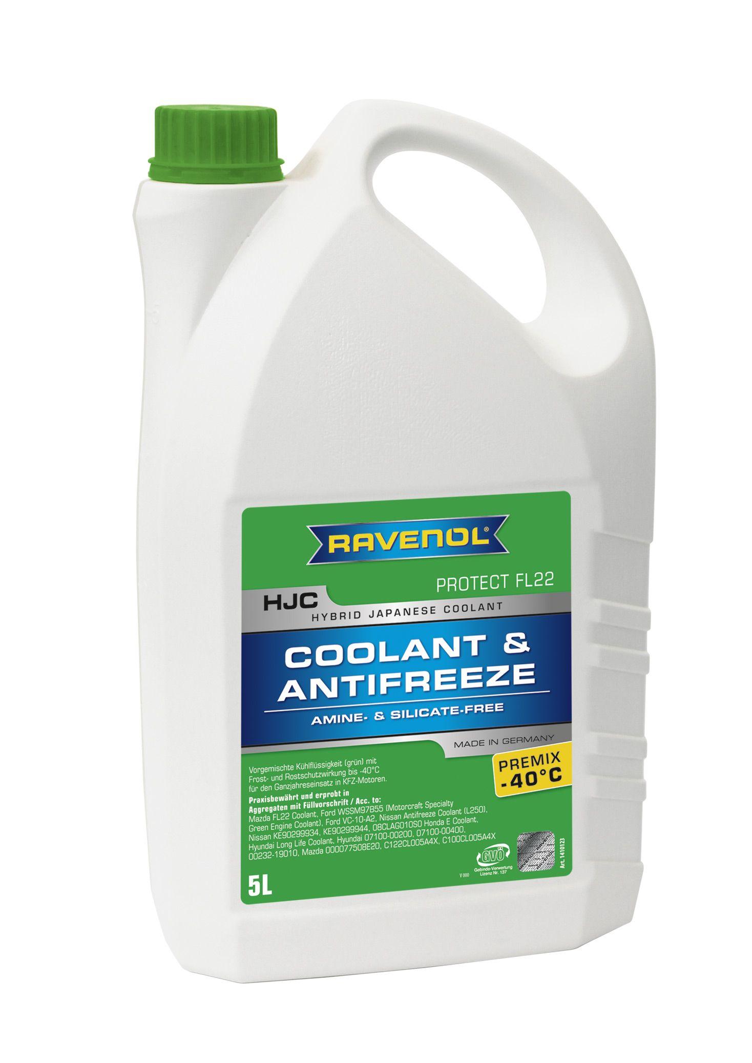 Антифриз Ravenol зеленый HJC Hybrid Japanese Coolant Premix -40°C (5 л) от Ravta