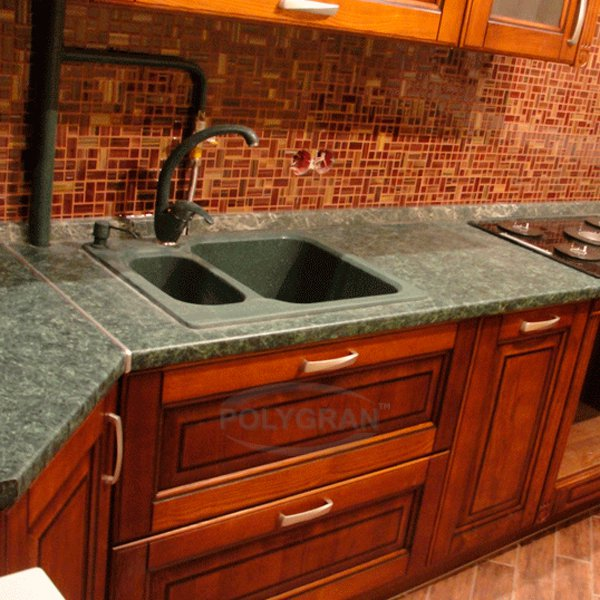Кухонные столешницы из искусственного камня с мойкой