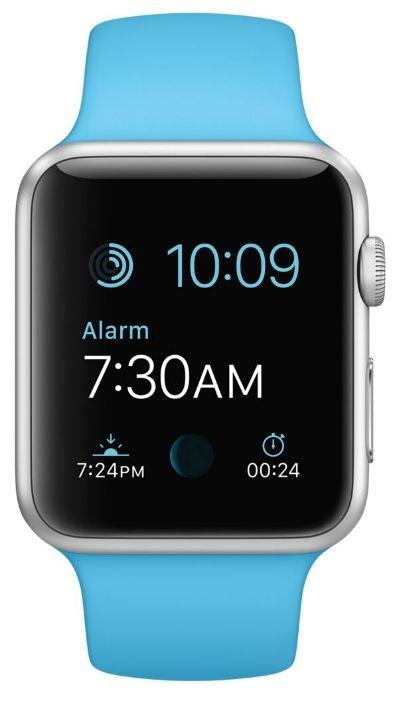 Умные часы Apple Watch Sport 42mm Silver Aluminum Case with Blue Sport Band (MJ3Q2) от Ravta
