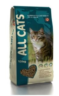 All Cats Полнорационный корм для взрослых кошек 13кгПовседневные корма<br><br><br>Артикул: 26382<br>Бренд: All Cats<br>Вид: Сухие<br>Вес брутто (кг): 13<br>Для кого: Кошки