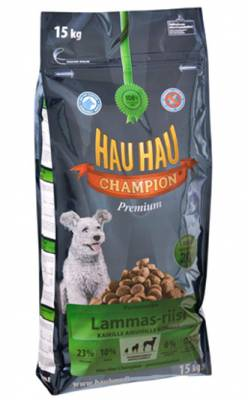 Корм Hau-Hau Champion Lamb- Rice Adult dog - полнорационный для собак всех пород ягненок с рисом 15 кгПовседневные корма<br><br><br>Артикул: 79589<br>Бренд: HAU-HAU<br>Вид: Сухие<br>Страна-изготовитель: Финляндия<br>Вес упаковки (кг): 15<br>Для кого: Собаки
