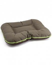 comfy Подушка COMFYARNOLD XLкоричневая с бежевым и с зеленой молнией(90х70 см) 238397