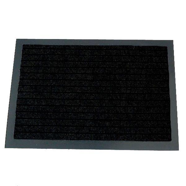 Коврик придверный грязезащитный Beaulieu Real Dura Mat 2868 черный 1000*1500ммПридверные коврики<br><br><br>Бренд: Beaulieu Real<br>Страна-изготовитель: Бельгия<br>Форма ковра: прямоугольник<br>Материал ворса коврового покрытия: Полипропилен<br>Высота ворса коврового покрытия (мм): 3<br>Общая толщина ковра (мм): 5,5<br>Длина ковра (мм): 1500<br>Ширина ковра (мм): 1000<br>Вес ворса коврового покрытия (гр/м2): 950<br>Придверный коврик: да<br>Цвет коврового покрытия: Черный