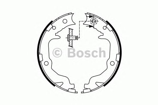 Тормозные колодки Bosch задние стояночного тормоза комплект Mitsubishi ASX [0986487766] от Ravta