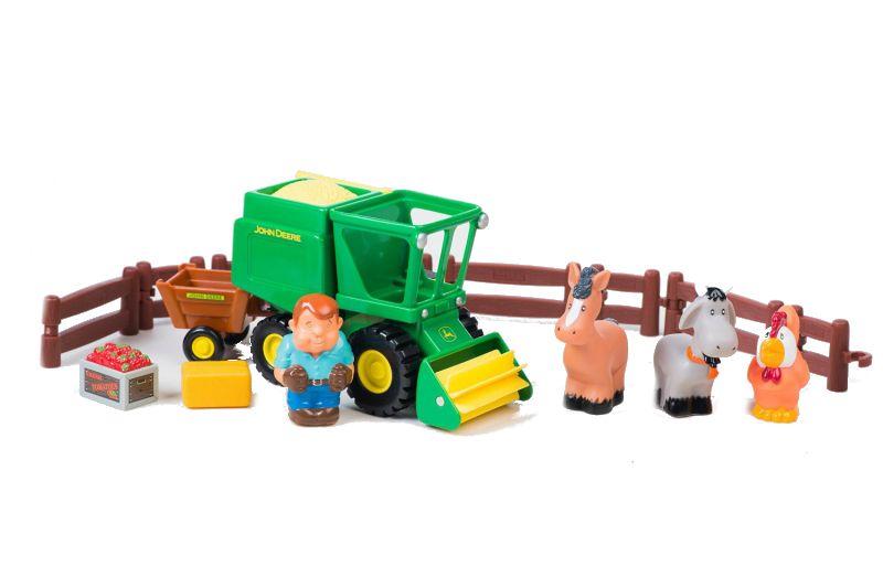 Игровой набор Уборка урожая John Deere Tomy (арт. ТО43069)Игрушки для малышей до 3 лет<br><br><br>Артикул: ТО43069<br>Бренд: Tomy<br>Категории: Машинки для малышей