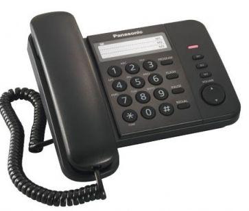 Телефон проводной Panasonic KX-TS 2352 RUB черный от Ravta