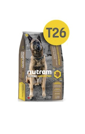 Корм Nutram T26 GF Lamb & Legumes Dog Food, беззерновой для собак из мяса ягненка с бобовыми, 13,6кг от Ravta