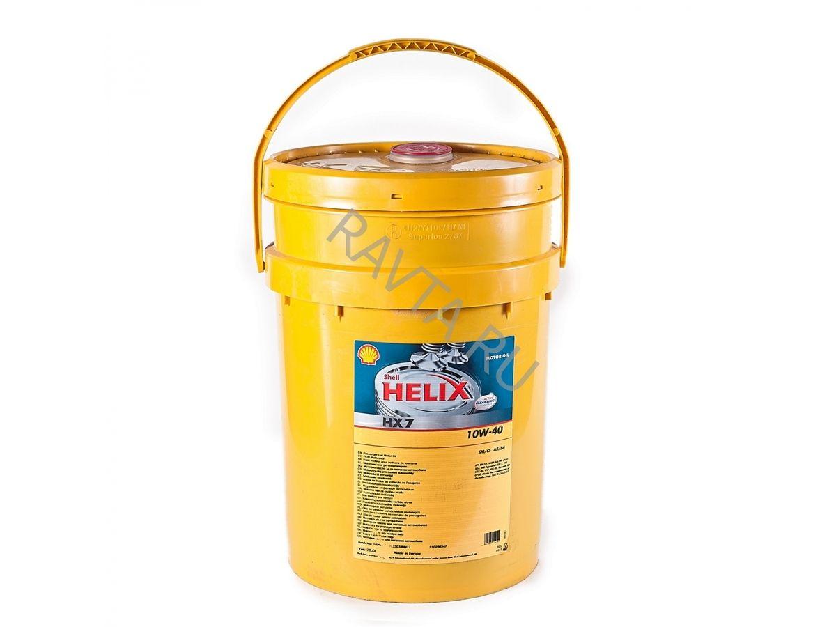 Масло Shell Helix HX7 10W-40 (20л) от Ravta