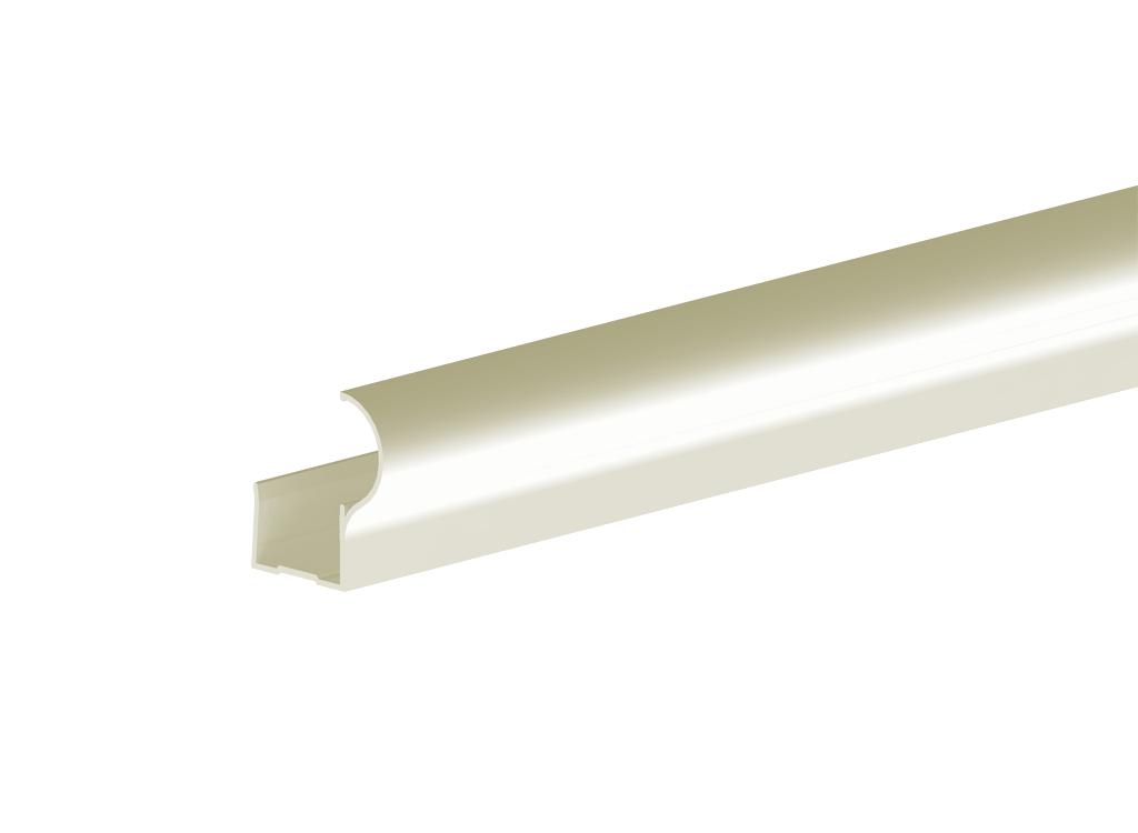 Профиль алюминиевый вертикальный Factor-decor для дверного полотна толщиной 16 мм, длиной 2700 мм, анодированный, цвет серебро от Ravta