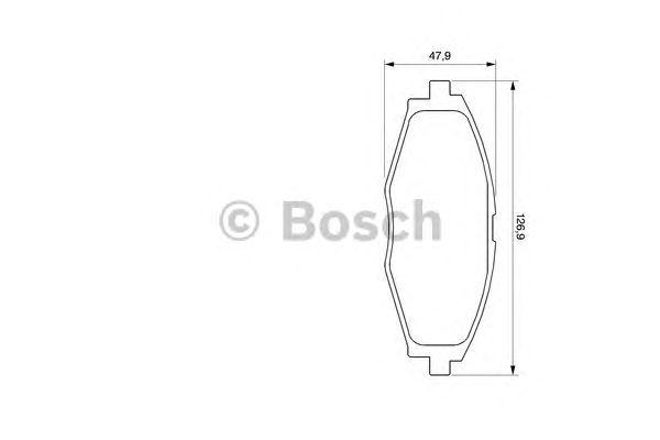 Тормозные колодки Bosch передние дисковые комплект Сhevrolet Lanos 2005> [986424512] от Ravta