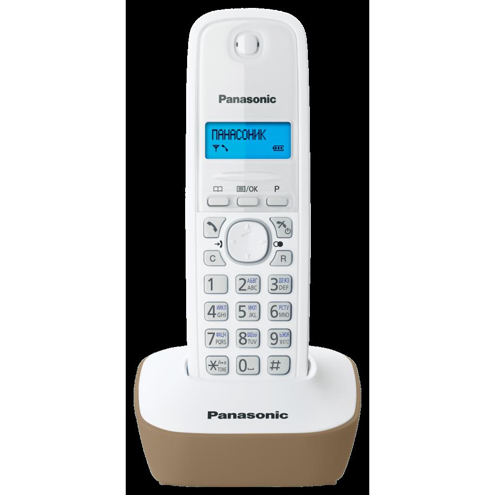 Телефон DECT Panasonic KX-TG 1611 RUJ бежевый/белый от Ravta