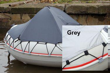 badger Носовой тент на лодку пвх (размер 110x90 см), Grey Тент4_grey