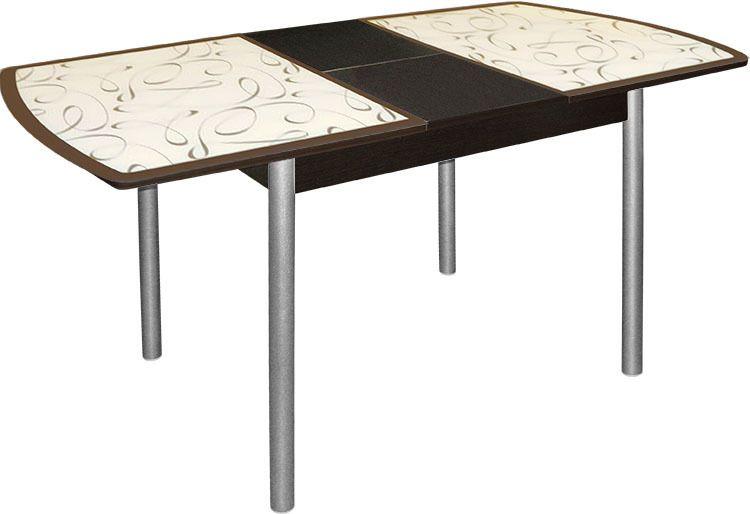 Стол обеденный (арт.М142.95) УзорМебель для дома<br><br><br>Артикул: М142.95<br>Бренд: Ravta<br>Страна-изготовитель: Китай<br>Цвет: Узор<br>Вид мебели: Стол<br>Каркас мебели: металл