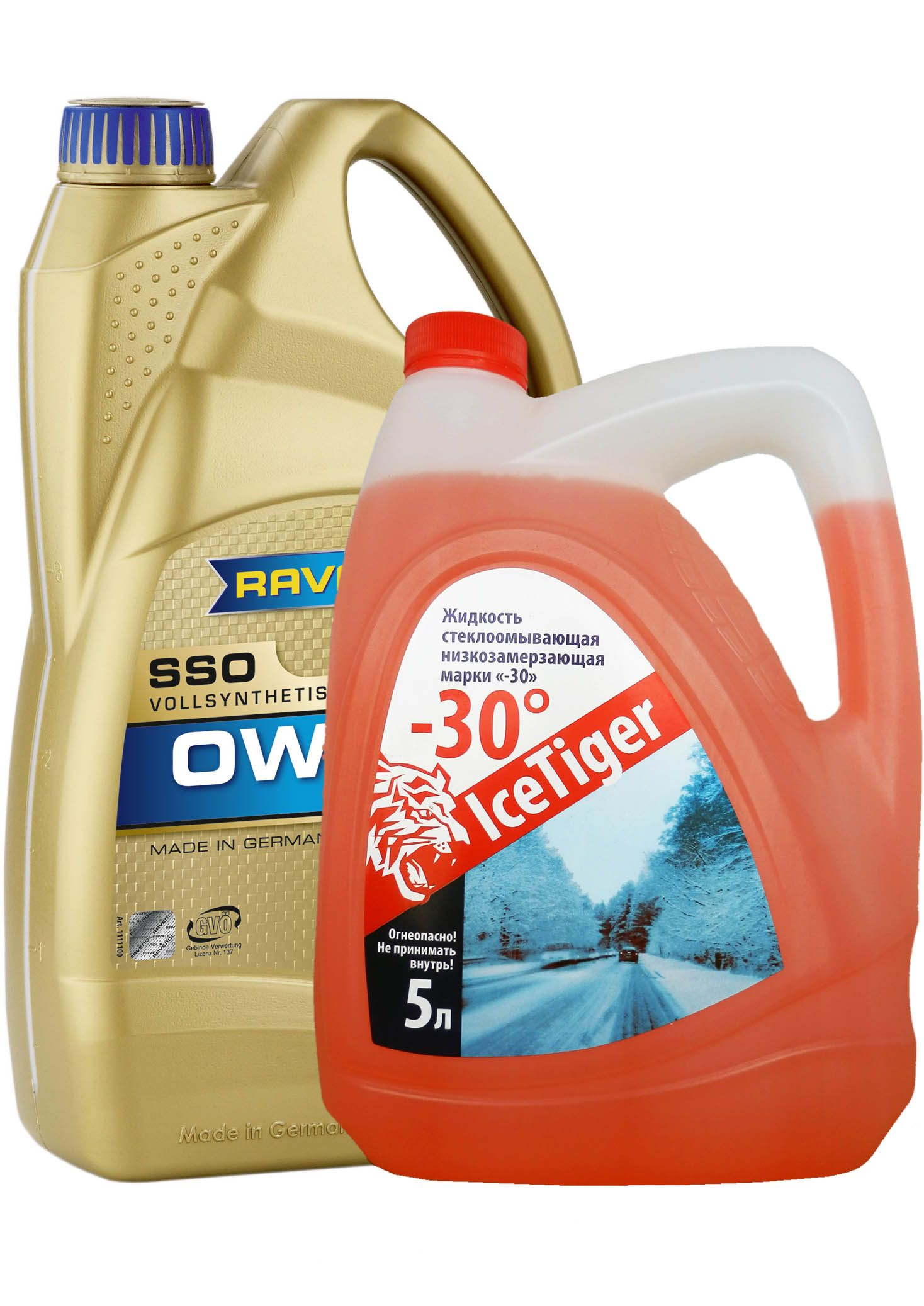 Набор RAVENOL SSO SAE 0W-30 ( 5л) new + Ice Tiger -30 (5л) от Ravta