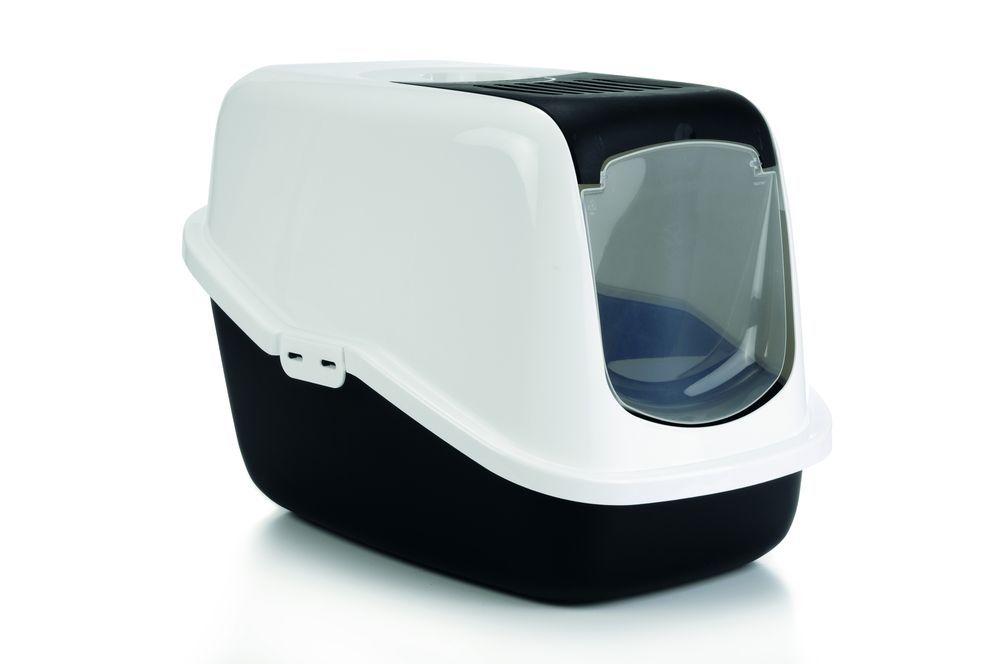 i.p.t.s. Туалет-домик для кошек Nestor черный 56*39*39см 400466