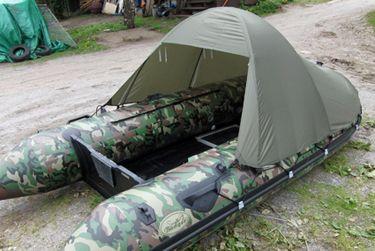 badger Тент-палатка для лодки (длина 240 / высота 120 см), Khaki 360_D