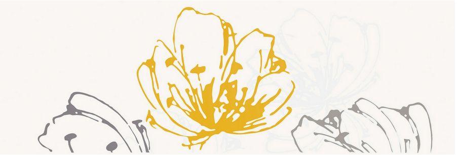 Керамическая плитка декор Paradyz Midian giallo kwiat 600x200 (шт) бежевый от Ravta
