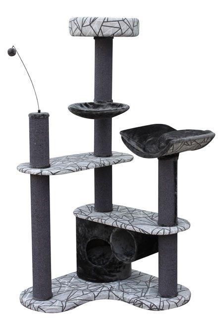 croci Когтеточка-комплекс угловой Barney, 80*80*167 см, серый/черн. C6020028