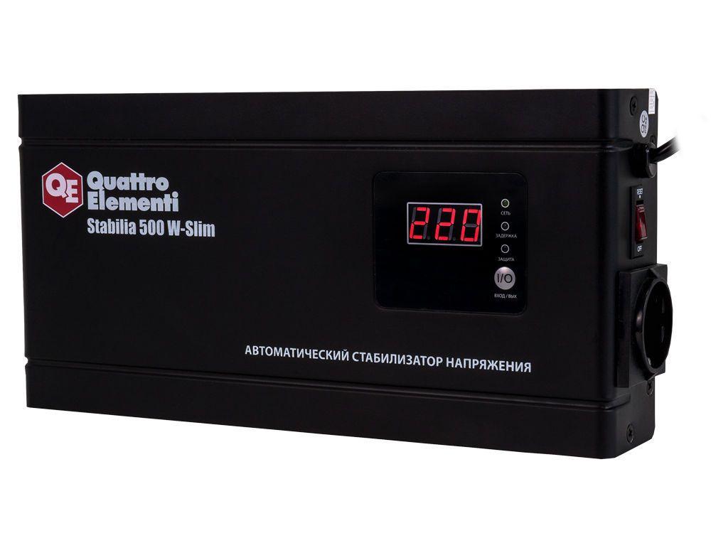 Стабилизатор напряжения QE Stabilia 500 W-Slim от Ravta