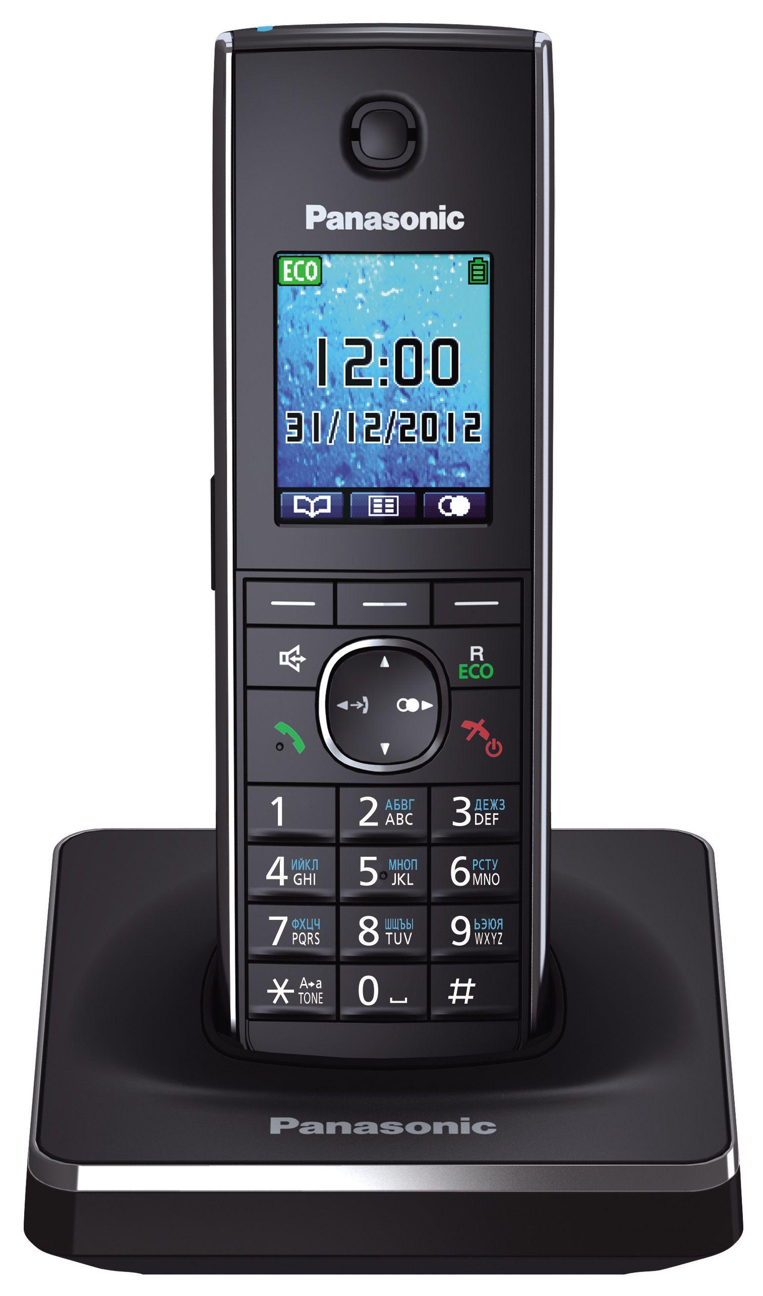 Телефон DECT Panasonic KX-TG8551RUB (черный)DECT телефоны<br><br><br>Артикул: KX-TG8551RUB<br>Бренд: Panasonic<br>Высота упаковки (мм): 145<br>Длина упаковки (мм): 190<br>Ширина упаковки (мм): 110<br>Вес упаковки (кг): 2