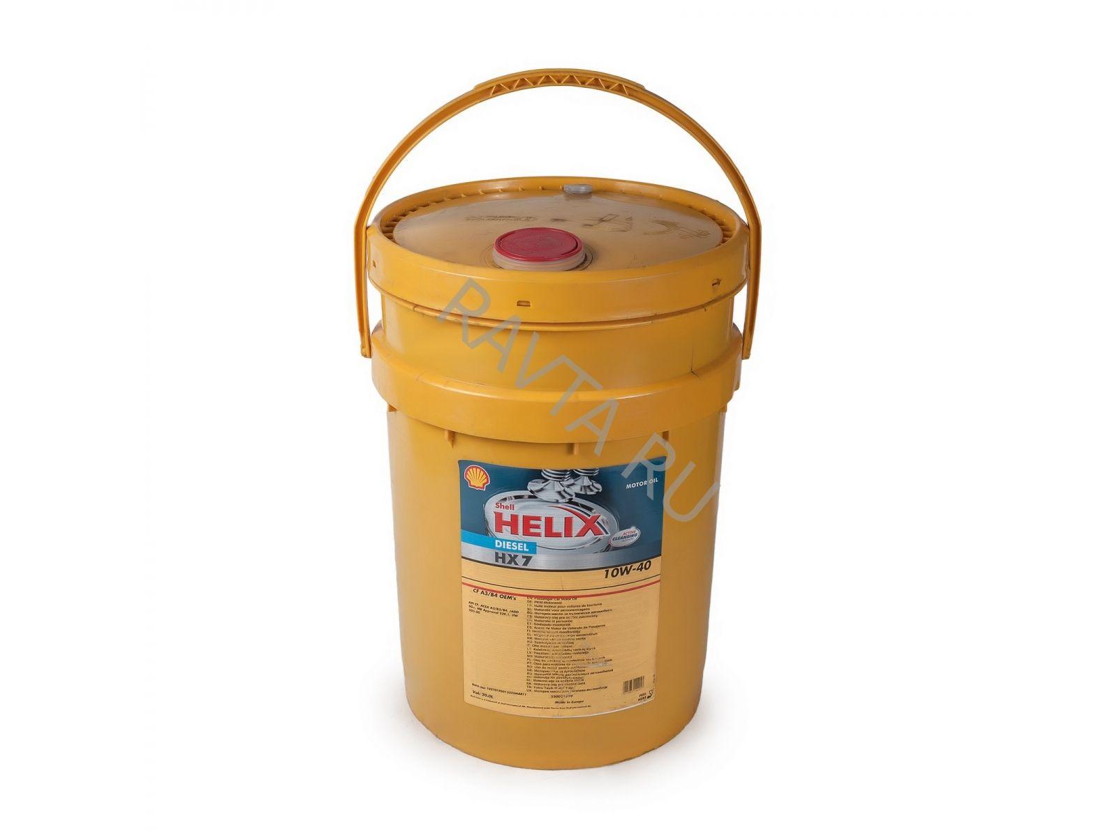 Масло Shell Helix Diesel HX7 10W-40 (20л) от Ravta