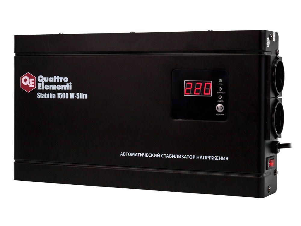 Стабилизатор напряжения QE Stabilia 1500 W-Slim от Ravta